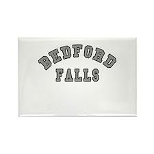 Bedford Falls Grey Lettering Rectangle Magnet