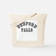 Bedford Falls Grey Lettering Tote Bag