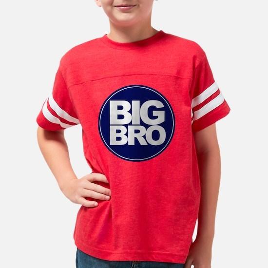 circle big bro blue Youth Football Shirt