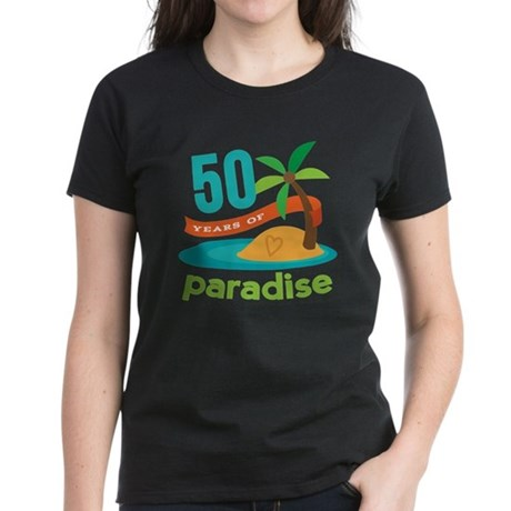 50th Anniversary paradise Women's Dark T-Shirt