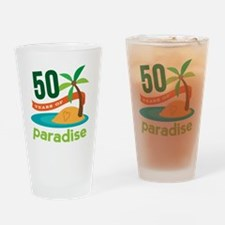 50th Anniversary paradise Drinking Glass