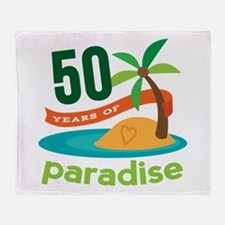 50th Anniversary paradise Throw Blanket