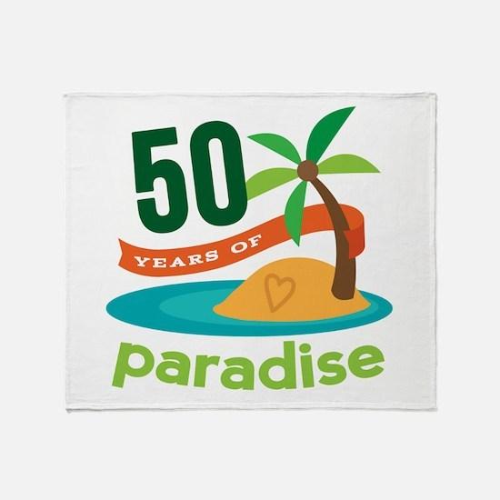 50th Anniversary paradise Throw Blanket