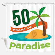 50th Anniversary paradise Shower Curtain