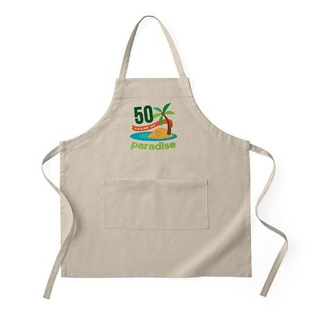 50th Anniversary paradise Apron