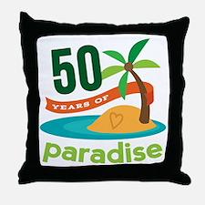 50th Anniversary paradise Throw Pillow