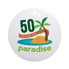 50th Anniversary paradise Ornament (Round)