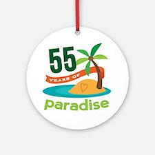 55th Anniversary paradise Ornament (Round)