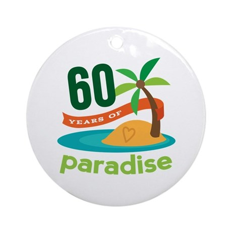 60th Anniversary paradise Ornament (Round)