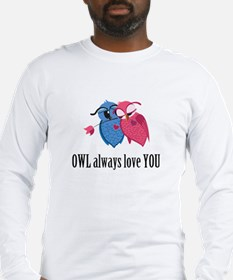 Romantic Owls Long Sleeve T-Shirt