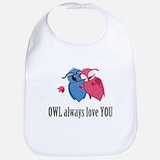 Romantic Owls Bib