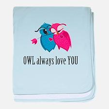Romantic Owls baby blanket