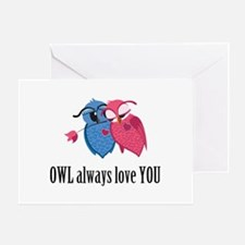 Romantic Owls Greeting Card