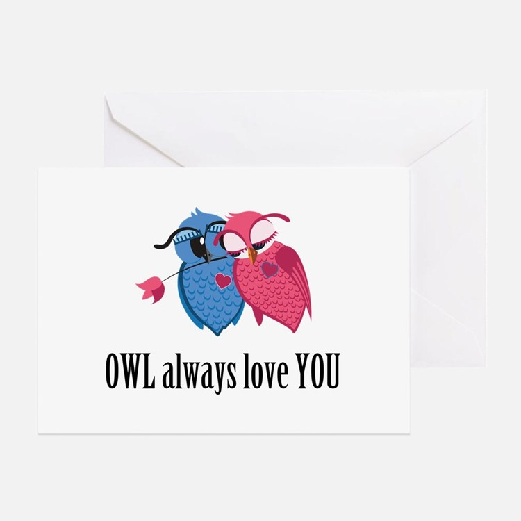 Romantic Owls Greeting Card