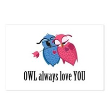 Romantic Owls Postcards (Package of 8)