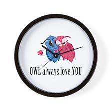 Romantic Owls Wall Clock