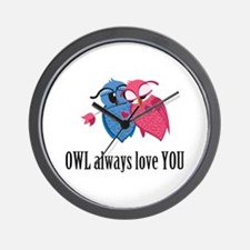 Romantic Owls Wall Clock