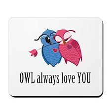 Romantic Owls Mousepad