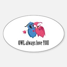 Romantic Owls Decal