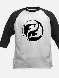Black And White Yin Yang Dolphins Baseball Jersey