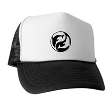 Black And White Yin Yang Dolphins Trucker Hat