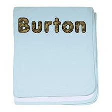 Burton Army baby blanket
