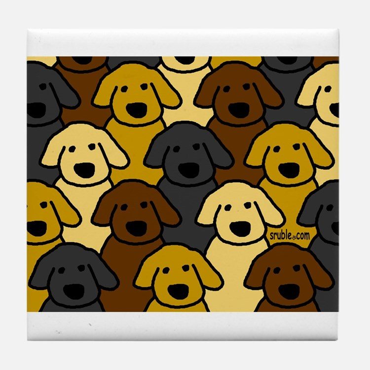 Dogs Marching Tile Coaster