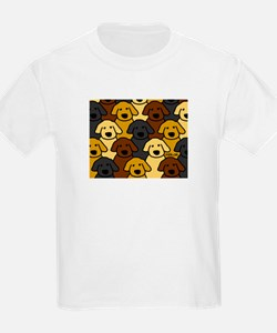 Dogs Marching Kids T-Shirt