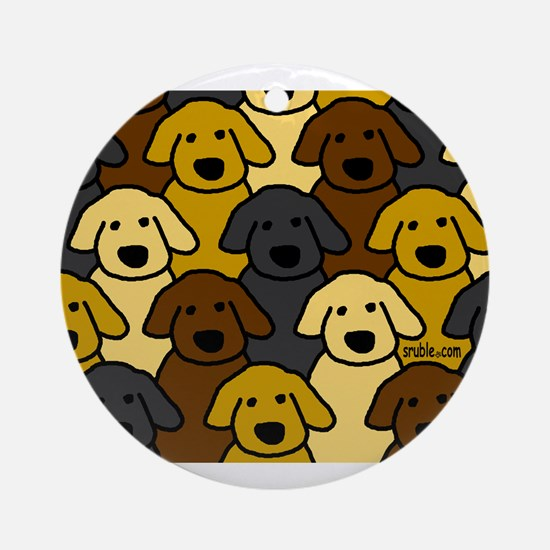 Dogs Marching Ornament (Round)