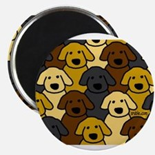 Dogs Marching Magnet