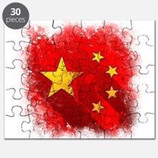 Grungy China flag Puzzle