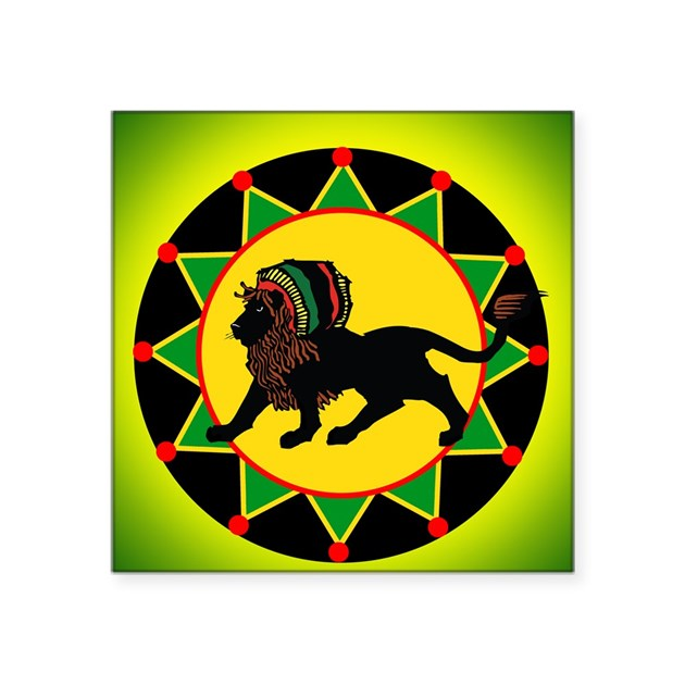 Jah King Rasta Lion Sticker by listing-store-6221992