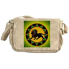 Jah King Rasta Lion Messenger Bag