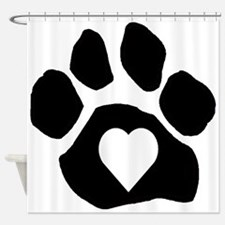 Heart In Paw Shower Curtain