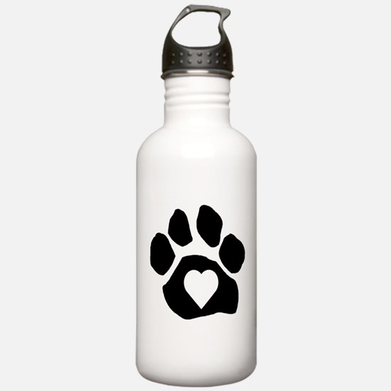 Heart In Paw Water Bottle