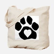 Heart In Paw Tote Bag
