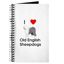 I Love Old English Sheepdogs (pic) Journal