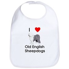 I Love Old English Sheepdogs (pic) Bib