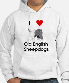 I Love Old English Sheepdogs (pic) Hoodie