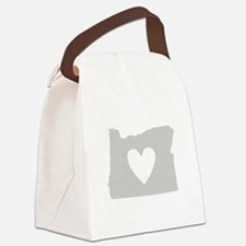 Heart Oregon Canvas Lunch Bag