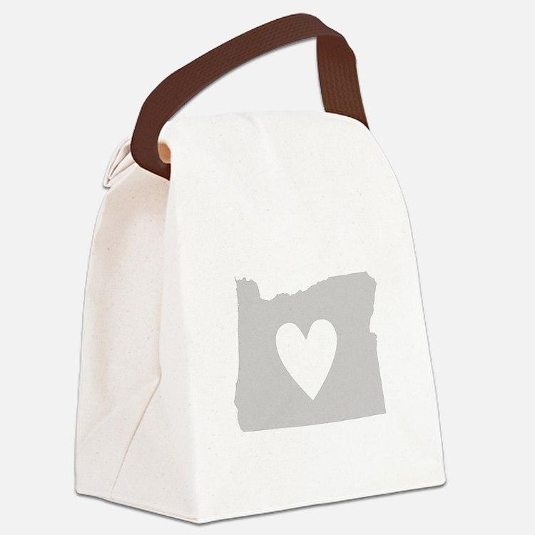 Heart Oregon Canvas Lunch Bag
