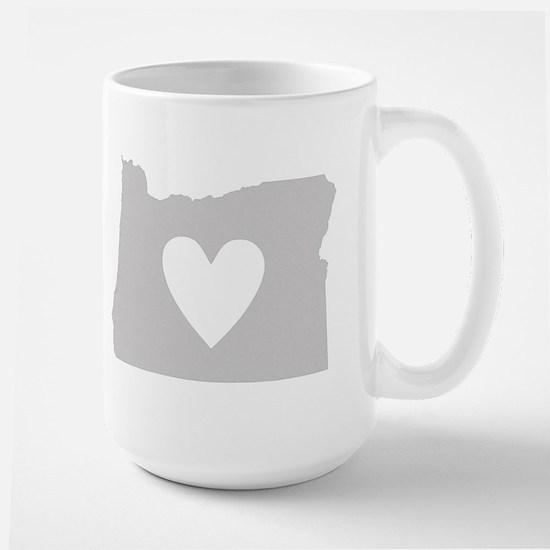 Heart Oregon Large Mug