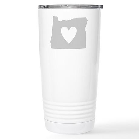 Heart Oregon Stainless Steel Travel Mug