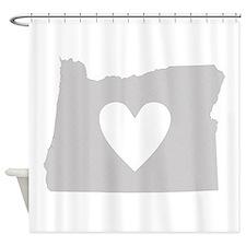 Heart Oregon Shower Curtain