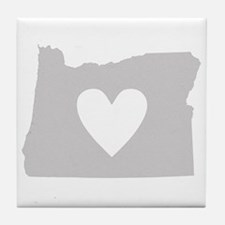 Heart Oregon Tile Coaster