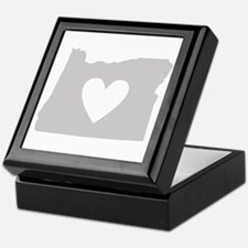 Heart Oregon Keepsake Box