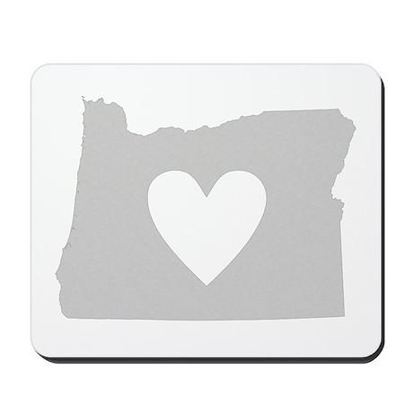 Heart Oregon Mousepad