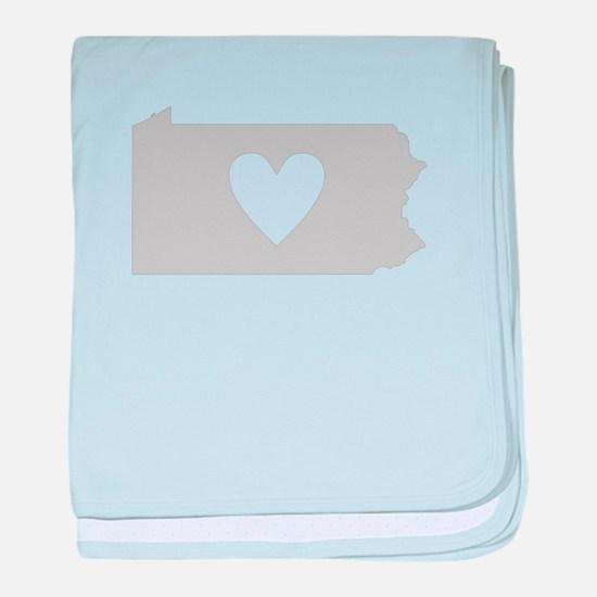 Heart Pennsylvania baby blanket