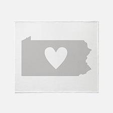 Heart Pennsylvania Throw Blanket
