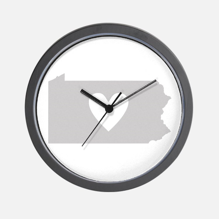 Heart Pennsylvania Wall Clock